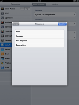 Apple iPad - E-mail - Configuration manuelle - Étape 6