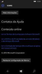 Microsoft Lumia 550 - Funções básicas - Como restaurar as configurações originais do seu aparelho - Etapa 8