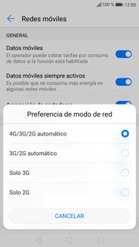 Huawei Mate 9 - Red - Seleccionar el tipo de red - Paso 6