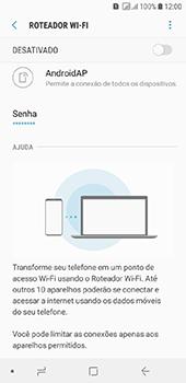 Samsung Galaxy J6 - Wi-Fi - Como usar seu aparelho como um roteador de rede wi-fi - Etapa 7