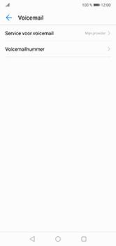 Huawei P20 Lite - Voicemail - handmatig instellen - Stap 10