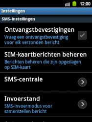 Samsung S5360 Galaxy Y - SMS en MMS - Handmatig instellen - Stap 4