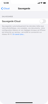 Apple iPhone XS - iOS 13 - Données - créer une sauvegarde avec votre compte - Étape 10