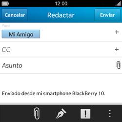 BlackBerry Q5 - E-mail - Escribir y enviar un correo electrónico - Paso 9