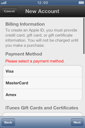 Apple iPhone 4 S - Applications - Create an account - Step 13