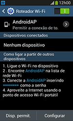 Samsung Galaxy Grand Neo - Wi-Fi - Como usar seu aparelho como um roteador de rede wi-fi - Etapa 11