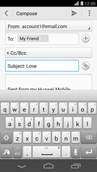 Huawei Ascend P7 - Email - Sending an email message - Step 9