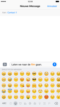 Apple Apple iPhone 6 Plus iOS 10 - iOS features - Stuur een iMessage - Stap 13