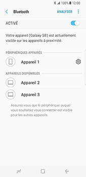 Samsung Galaxy S8 - Bluetooth - connexion Bluetooth - Étape 11