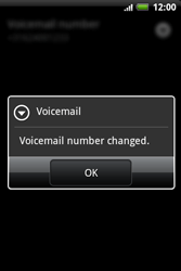 HTC A510e Wildfire S - Voicemail - Manual configuration - Step 7