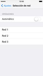 Apple iPhone SE - Red - Seleccionar una red - Paso 6