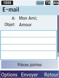 Samsung S5610 Primo - E-mail - envoyer un e-mail - Étape 7