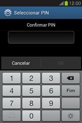 Samsung Galaxy Fame - Segurança - Como ativar o código de bloqueio do ecrã -  9