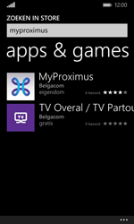 Nokia Lumia 635 - Applicaties - MyProximus - Stap 7