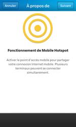 BlackBerry Z10 - Internet et connexion - Partager votre connexion en Wi-Fi - Étape 6