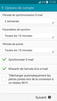 Samsung N910F Galaxy Note 4 - E-mail - Configurer l