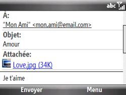 HTC S521 Snap - E-mail - Envoi d