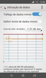 Sony Xperia E1 - Internet no telemóvel - Como ativar os dados móveis -  6