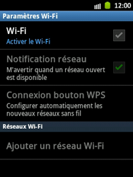 Samsung S5300 Galaxy Pocket - Wifi - configuration manuelle - Étape 5