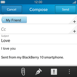 BlackBerry Q5 - Email - Sending an email message - Step 11