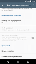 Sony Xperia X - Android Nougat - Device maintenance - Terugkeren naar fabrieksinstellingen - Stap 6