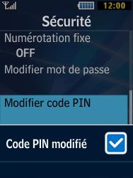 Samsung Solid 271 - Sécuriser votre mobile - Personnaliser le code PIN de votre carte SIM - Étape 9