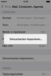 Apple iPhone 4S met iOS 8 (Model A1387) - Contacten en data - Contacten kopiëren van SIM naar toestel - Stap 5