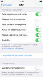 Apple iPhone 8 - Dados - Como limpar cookies/cache/histórico -  4
