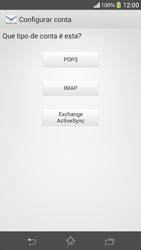 Sony C5303 Xperia SP - Email - Como configurar seu celular para receber e enviar e-mails - Etapa 7