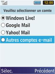 Samsung C3350 Xcover 2 - E-mail - Configuration manuelle - Étape 11