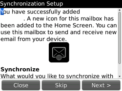 BlackBerry 9700 Bold - E-mail - Manual configuration - Step 11