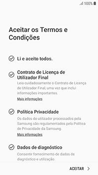 Samsung Galaxy S7 Edge - Android Oreo - Primeiros passos - Como ligar o telemóvel pela primeira vez -  8