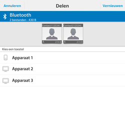 BlackBerry Passport - Contacten en data - Contacten overzetten via Bluetooth - Stap 9