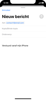 Apple iPhone X - iOS 13 - E-mail - e-mail versturen - Stap 5