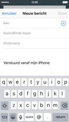 Apple iPhone 5 met iOS 9 (Model A1429) - E-mail - Hoe te versturen - Stap 4