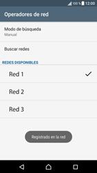 Sony Xperia X - Red - Seleccionar una red - Paso 12