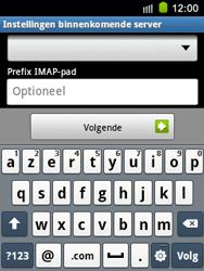 Samsung S5570 Galaxy Mini - E-mail - e-mail instellen: IMAP (aanbevolen) - Stap 11