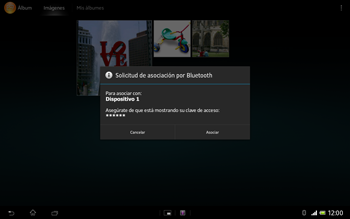 Sony Xperia Tablet Z - Bluetooth - Transferir archivos a través de Bluetooth - Paso 12