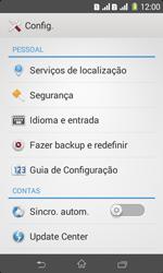 Sony D2105 Xperia E1 Dual - Funções básicas - Como restaurar as configurações originais do seu aparelho - Etapa 6