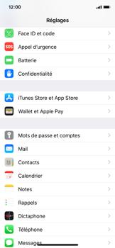 Apple iPhone XS - iOS 12 - Sécuriser votre mobile - Activer le code de verrouillage - Étape 3
