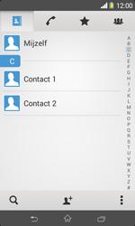 Sony Xperia E1 (D2005) - Contacten en data - Contacten kopiëren van toestel naar SIM - Stap 4