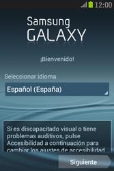 Samsung S6310 Galaxy Young - Primeros pasos - Activar el equipo - Paso 2