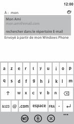 Samsung I8350 Omnia W - E-mail - Envoi d