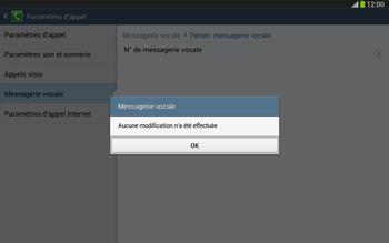 Samsung P5220 Galaxy Tab 3 10-1 LTE - Messagerie vocale - configuration manuelle - Étape 11