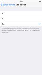 Apple iPhone 6s iOS 9 - Red - Seleccionar el tipo de red - Paso 6