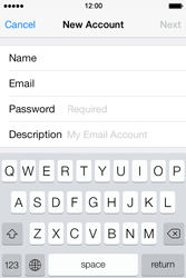 Apple iPhone 4 S iOS 7 - Email - Manual configuration - Step 8