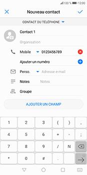 Huawei P Smart - Contact, Appels, SMS/MMS - Ajouter un contact - Étape 6