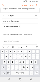 Samsung Galaxy A8 (2018) - E-mail - Sending emails - Step 19