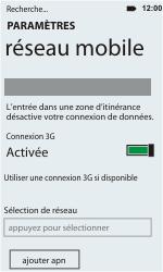 HTC C110e Radar - Réseau - utilisation à l'étranger - Étape 10