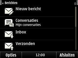 Nokia E6-00 - SMS - Handmatig instellen - Stap 4